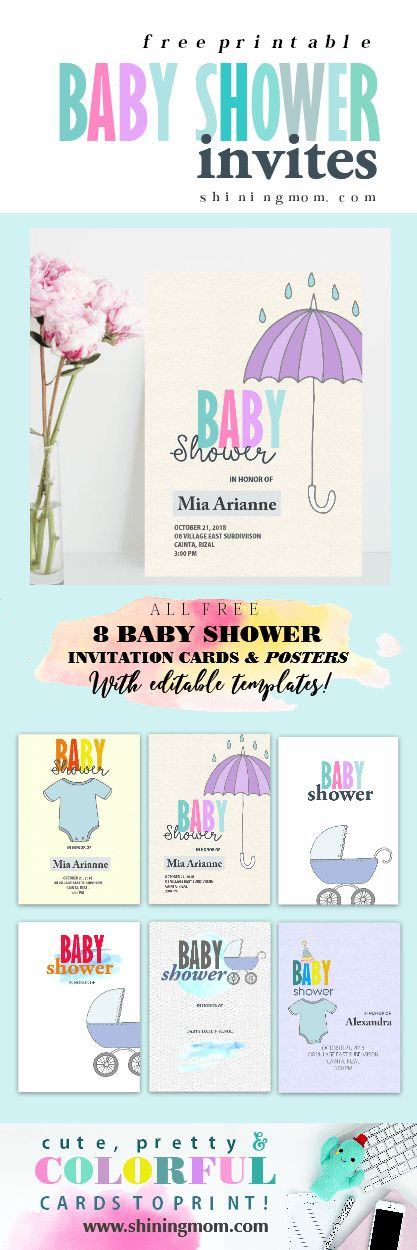 The 25 best Printable baby shower invitations ideas on Pinterest