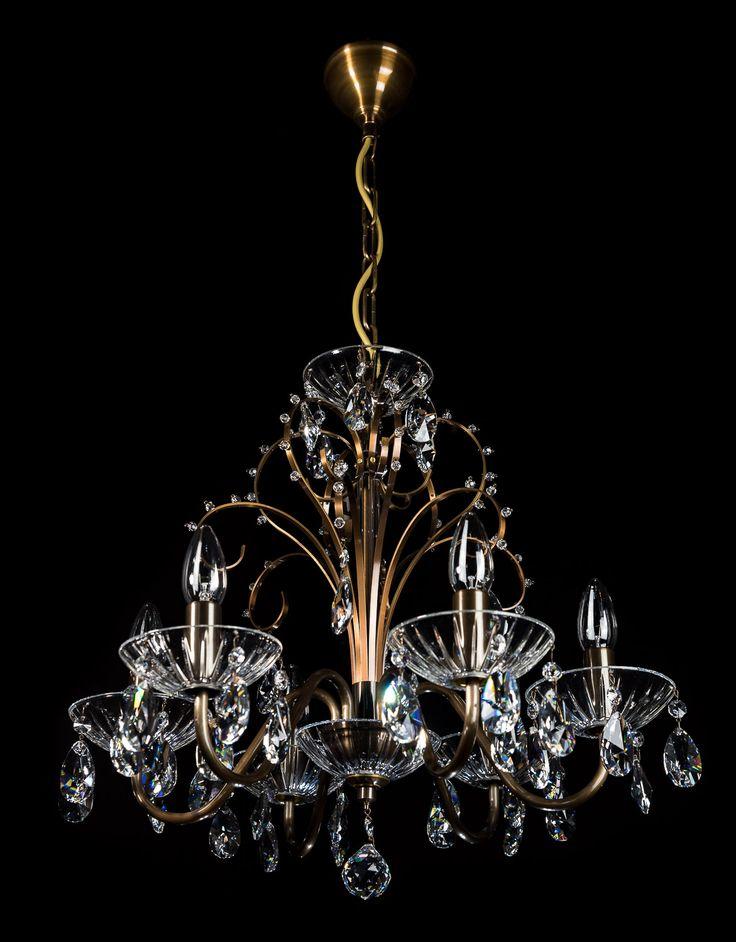 Mosiężno-kryształowy żyrandol / Crystal chandelier