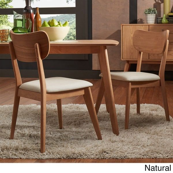 Penelope Danish Modern Tapered-leg Dining Chair by MID-CENTURY LIVING (Set of 2)