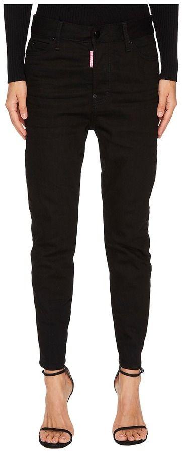 DSQUARED2 Londean Dark Wash Jeans in Black Women's Jeans