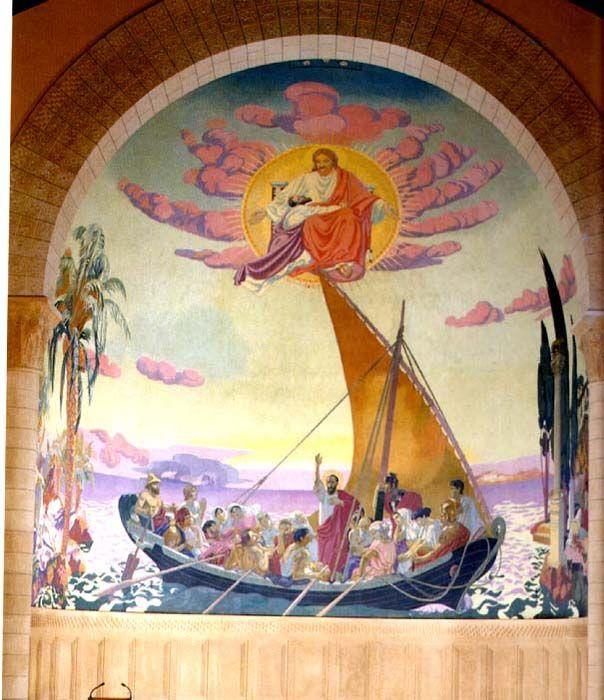 'dekorativ wand für kirche st paul, `geneva`', 1916 von Denis Maurice (1870-1943, France)