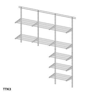 Adjustable Wall Mounted Wire Shelving