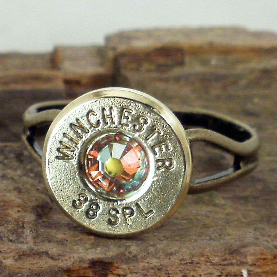 Bullet Ring Winchester 38 SPL AB Crystal by ShellsNStuff, $12.99
