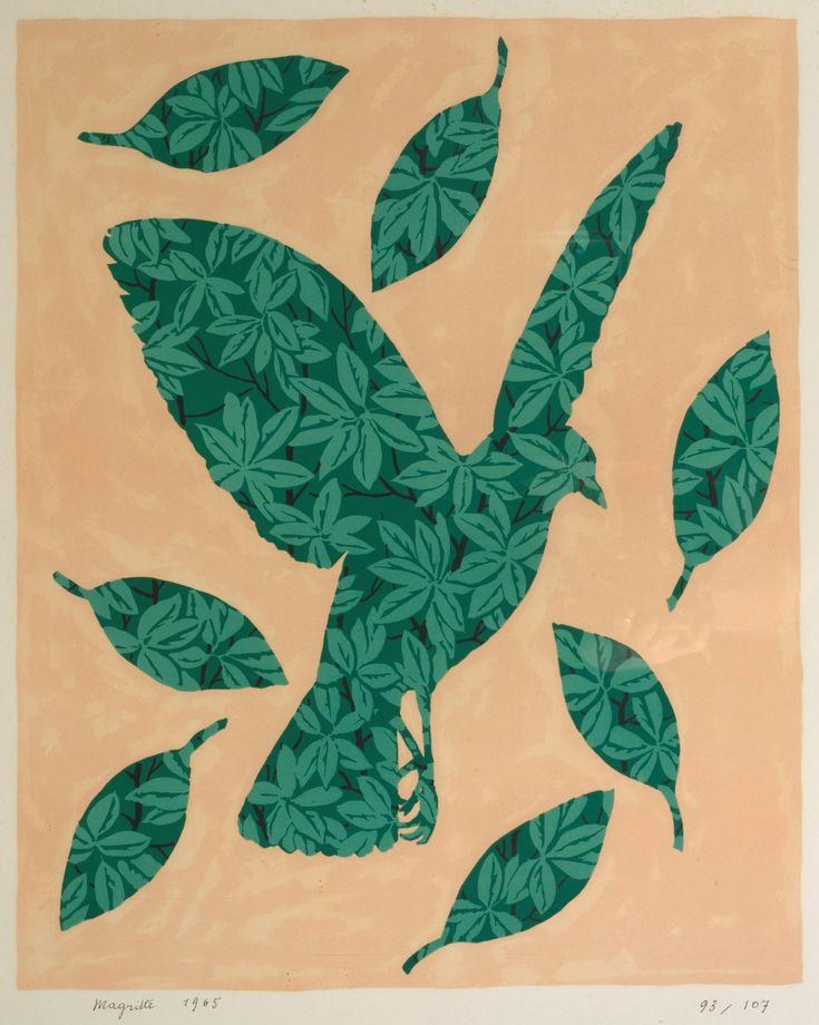 René Magritte - L'Oiseau Feuilles