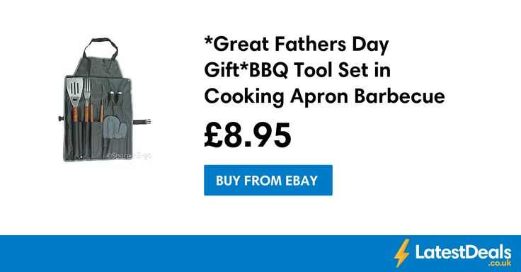 *Great Fathers Day Gift* BBQ Tool Set in Cooking Apron Barbecue, £8.95 at ebay