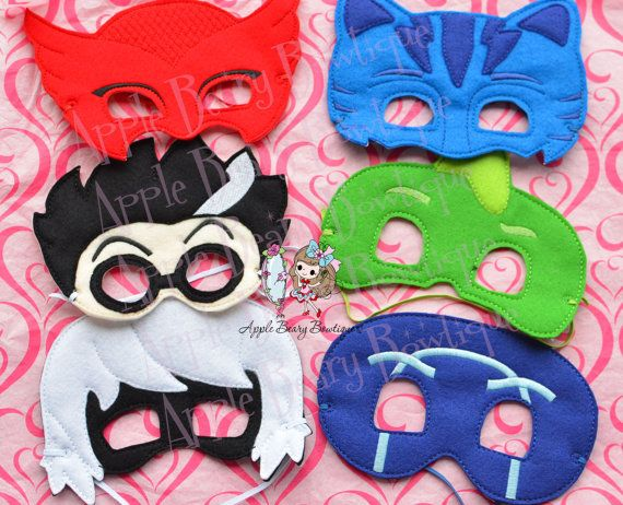 PJ Masks READY stock PJ Masks Disney Jr Masks Catboy mask, Gekko Mask, Pj Masks dress up Pj Masks birthday party favor Luna girl, night ninja,