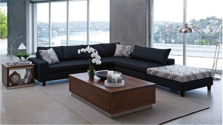 Nest Fabric Corner Modular Lounge with Ottoman