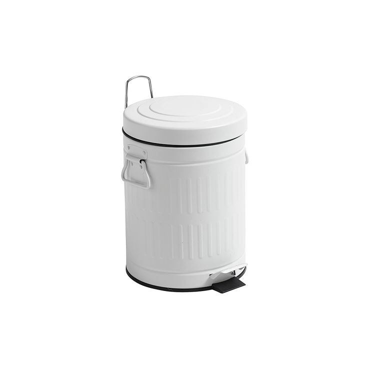White Kitchen Bin Part - 24: Amara . Nordal - White Round Bin . 5 L / 20 L / 30 L