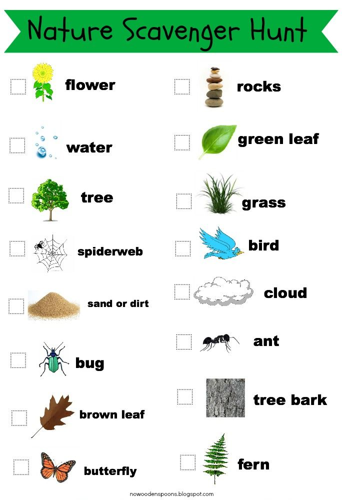 printable nature walk - Buscar con Google