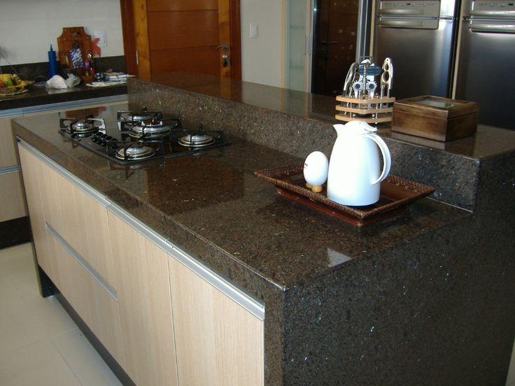 cozinha com pedra amarelo maracuja - Pesquisa Google