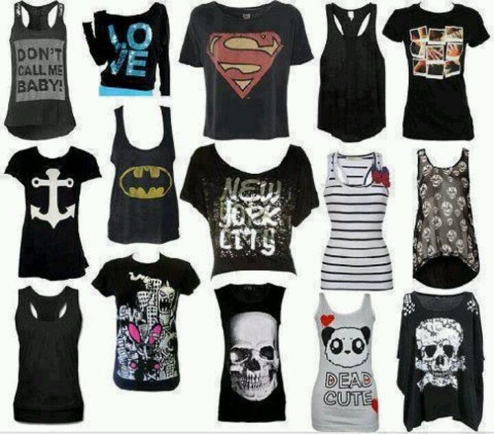 Expect for the ones with the skulls and the one under the Batman shirt, I love them