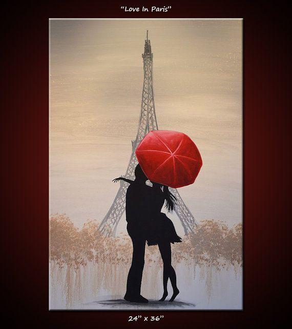 Original francés de arte pintura grande París por AmyGiacomelli …