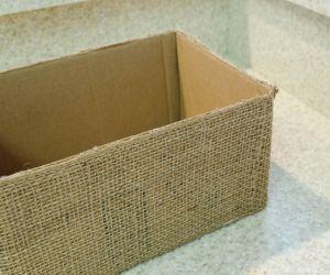 Finished Burlap Box