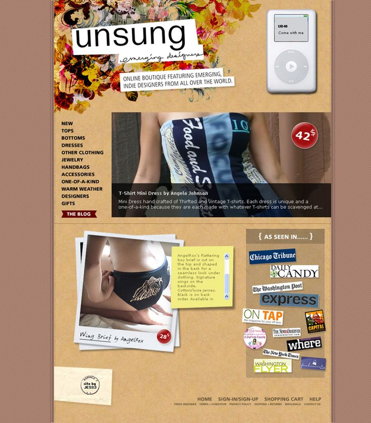 JESS3 - Projects / Unsung Designers - Website and Collage Design