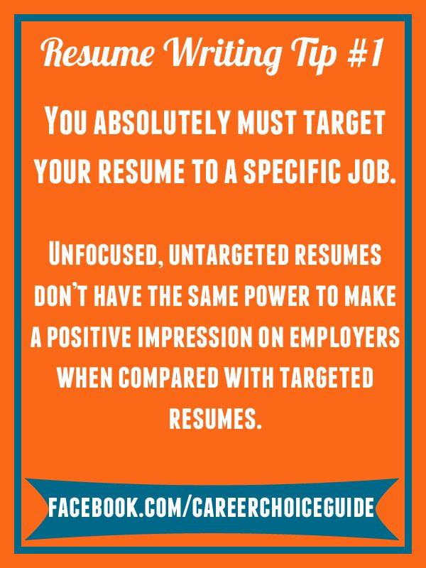 resume writing quick tip you absolutely must target your resume to a specific job