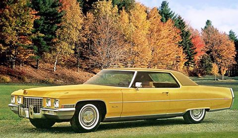 1971 Cadillac Coupe De Ville.