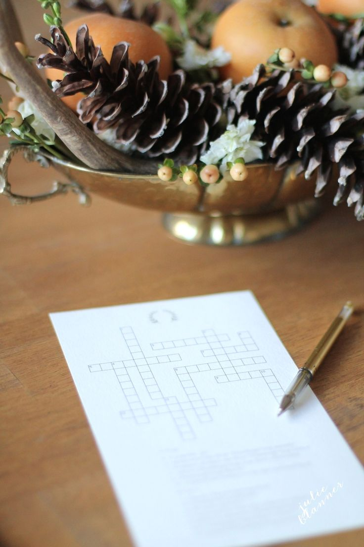 Game with shapes of different colors crossword - Last Minute Thanksgiving Entertaining Ideas A 5 Minute Centerpiece Free Printable Thanksgiving Crossword Puzzle