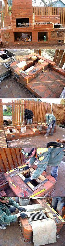 Строю печь Барбекю из кирпича на даче, как сделать своими руками - фото и чертежи   Сами своими руками