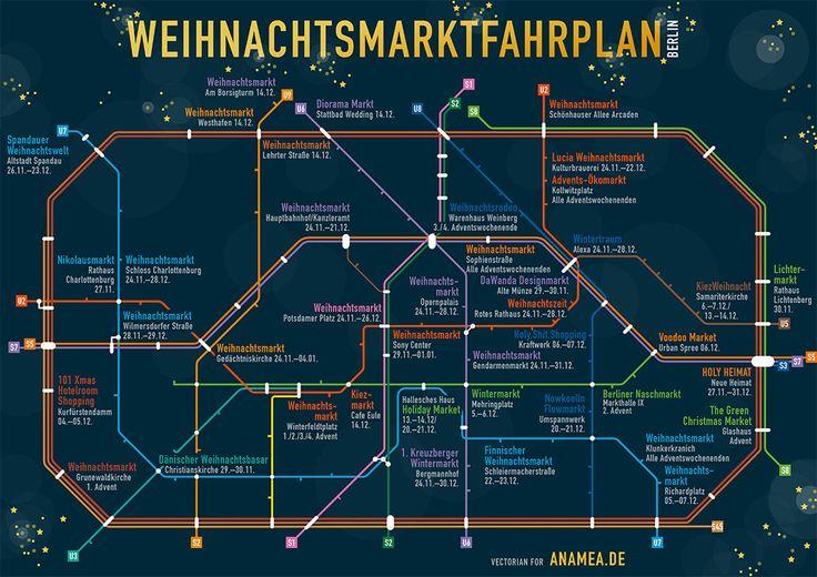 Entdecke jetzt die Berliner Weihnachtsmärkte mit dem Berliner Weihnachtsmarktfahrplan. Auch zum Ausdrucken und Mitnehmen!