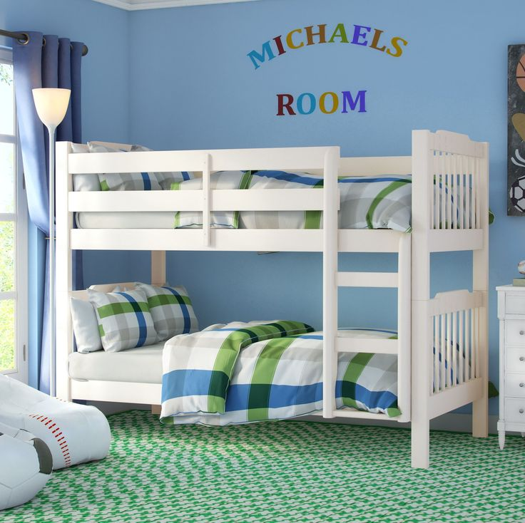 Features:  -Ladder can not be positioned on the other side of bed.  -Material: Asian rubberwood.  Style (Old): -Traditional/Children's.  Pieces Included: -one upper and one lower bunk bed.  Wood Tone: