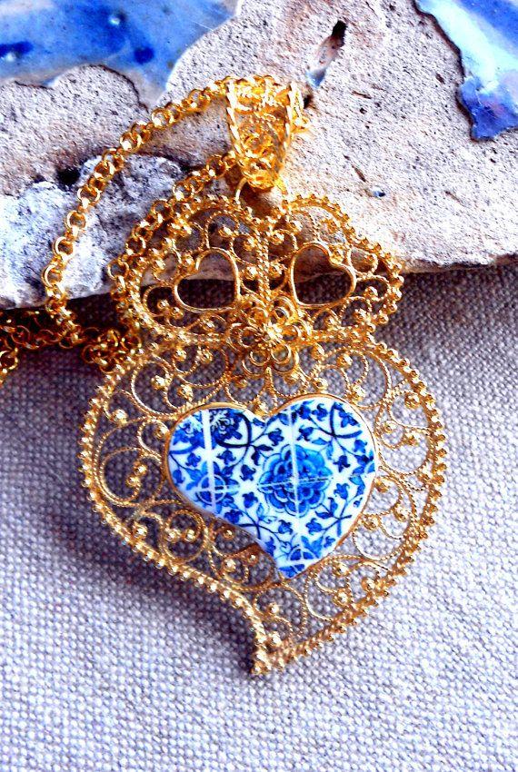 CUSTOM ORDER for Antonio  LARGE Heart of Viana/Minho with by Atrio,