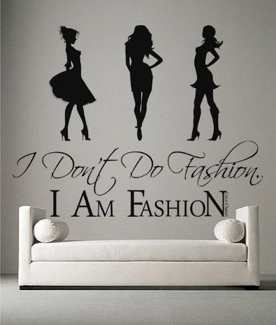 I Am Fashion Quote Vinyl Wall Art Sticker Girls Decal Stencil Art & The 31 best Pretty Wall Decals images on Pinterest | Wall decals ...