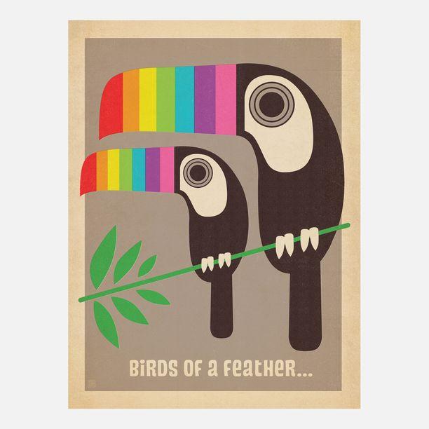 Mod Rainbow Toucans Print design inspiration on Fab.