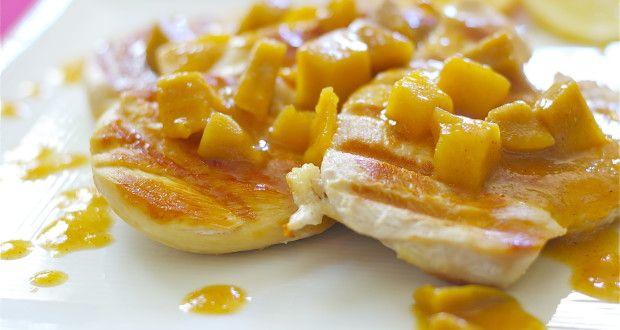 Mango Chicken Gluten Free Dairy Free | Let's Be Yummy