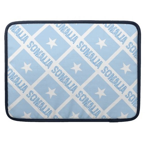 Somalia Flag and Name Borderless Sleeves For MacBook Pro design by @auntieshoe