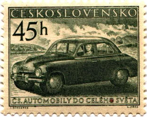 Skoda stamp