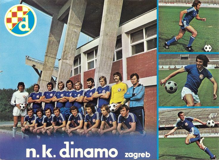 NK Dinamo Zagreb of Yugoslavia team group in 197475. in