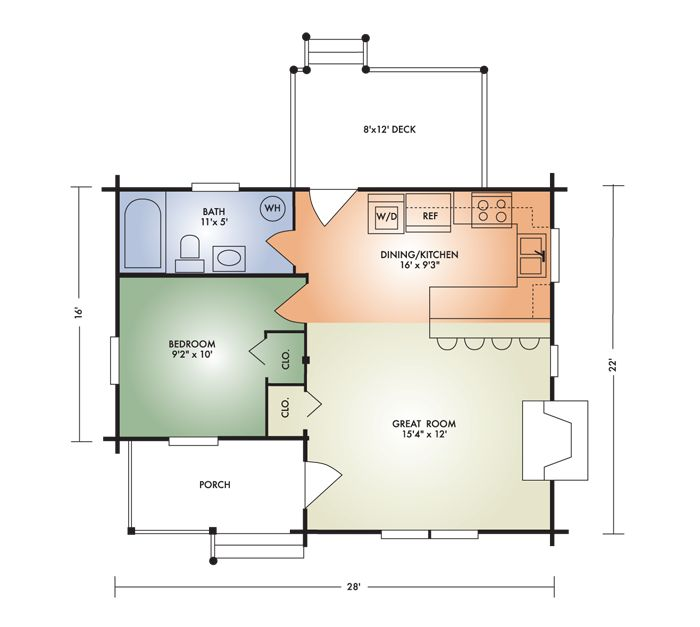 389 best images about tiny retirement on pinterest house for Small house plans for retirees