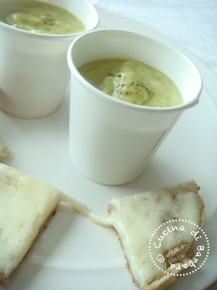 Cucina di Barbara food blog - blog di cucina ricette: Ricetta Crema fredda di zucchine alla menta - Courgette Cold soup scented with mint