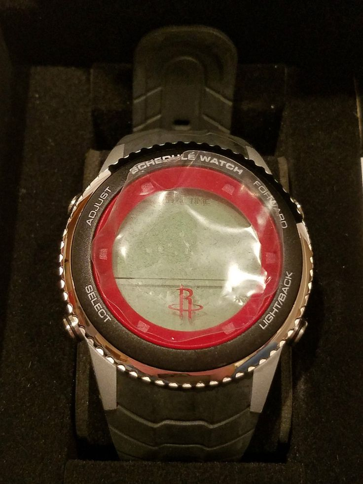 Authentic Houston Rockets Game Time NBA Schedule Digital Watch Mens  BEST DEAL