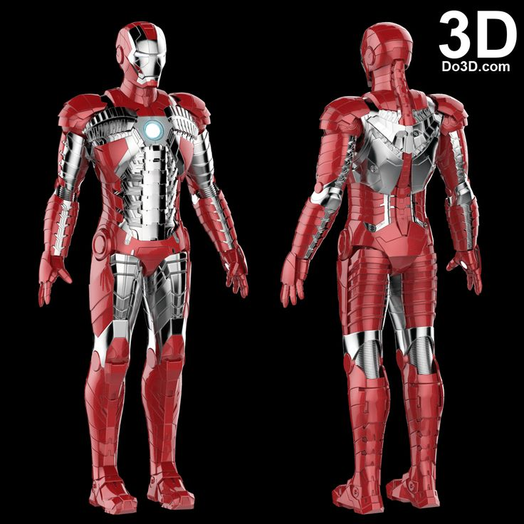 3D Printable Suit: Iron Man Mark V SuitCase Armor (Model