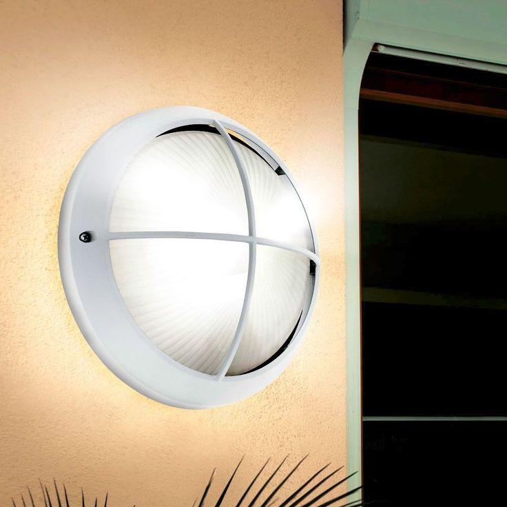 Design Wand Strahler LED Haus Tür Beleuchtung 7 Watt Außen Leuchte gerillt Lampe