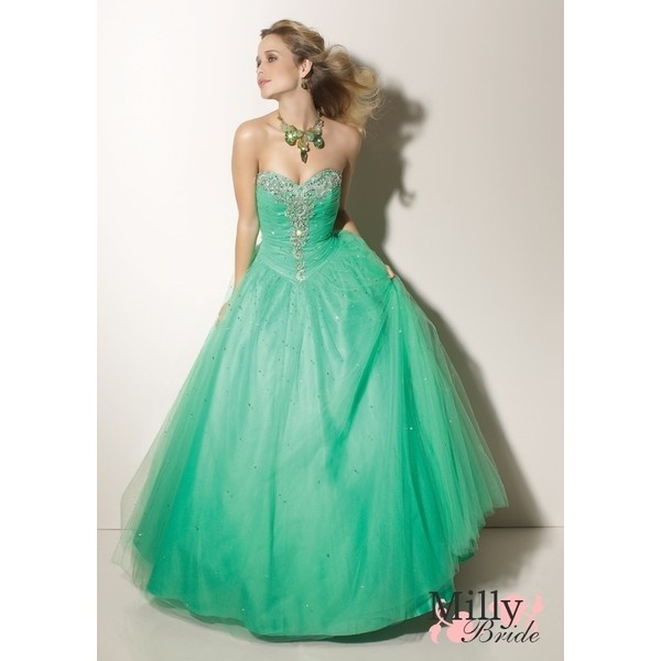 Ball Beaded Sweetheart Neckline Tulle Prom Dresses PDM133 found on Polyvore // #Green #Fashion #Dresses #Gowns #Clothes #StyleFlower Girls Dresses, Wedding Dressses, Evening Dresses, Ball Gowns, Promdresses, Bridesmaid Dresses, Green Dress, Tulle Prom Dress, Prom Dresses