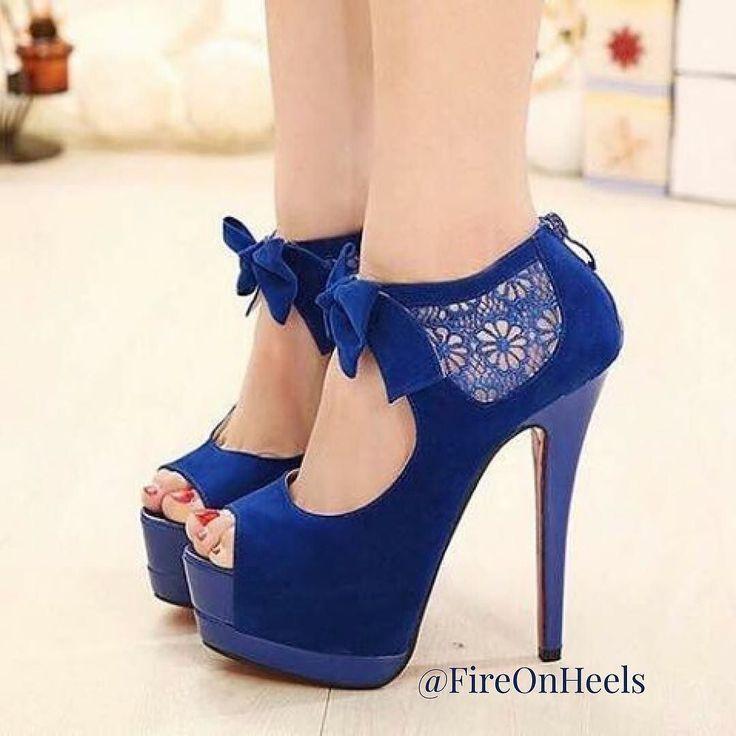 Trendy Women s High Heels    blue... Zapatos MujerZapatos De ... 04a26133623b