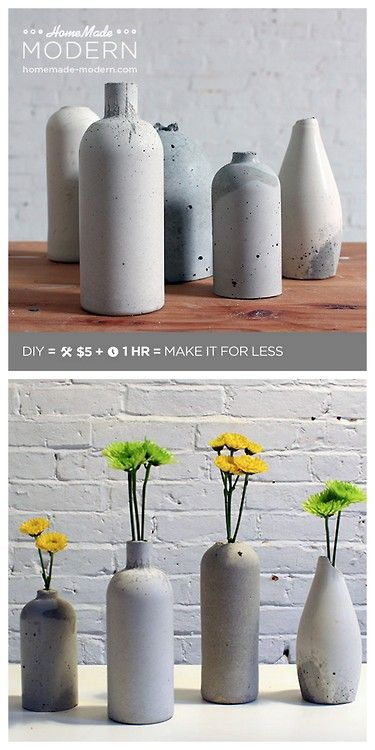 DIY Concrete Vase Tutorial from Home Made Modern.Quikrete is used for this DIY and I've personally had only good experiences with thi...