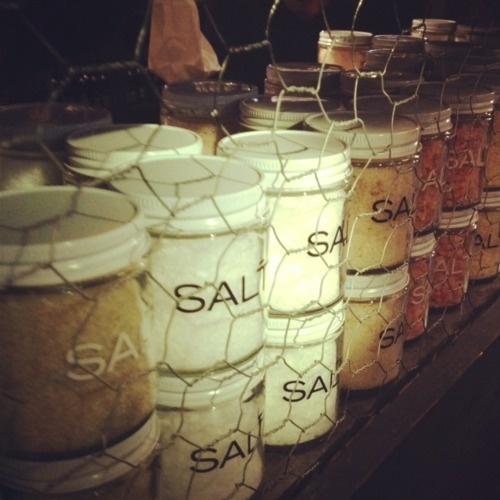 The Filling Station at Chelsea Market: the black truffle salt is divine.