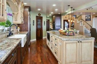 Tuscany style Kitchen/Great room - mediterranean - kitchen - san diego - by Gourmet Galleys & Loos | Kitchen and Bath Design