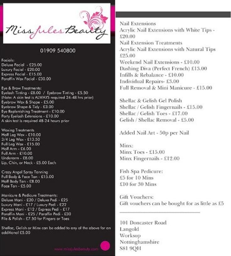 Best  Hairdresser Price List Ideas On   Beauty Price