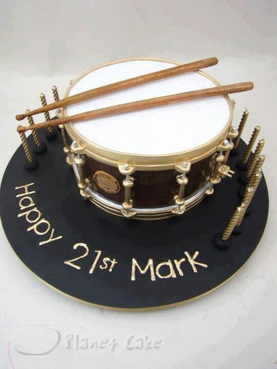 Motivtorte (Drum)/ Geburtstagstorte