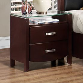 Homelegance Lyric Dark Espresso Asian Hardwood Nightstand 1737Nc-4