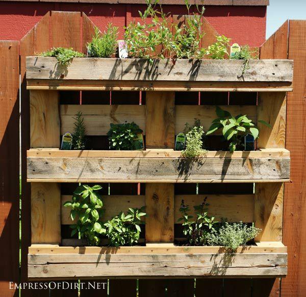 Patio Herb Garden Idea: 1000+ Ideas About Herb Garden Pallet On Pinterest