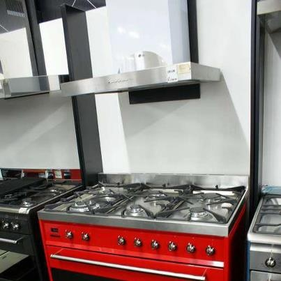 Funky appliances! This red smeg stove is perfect as a