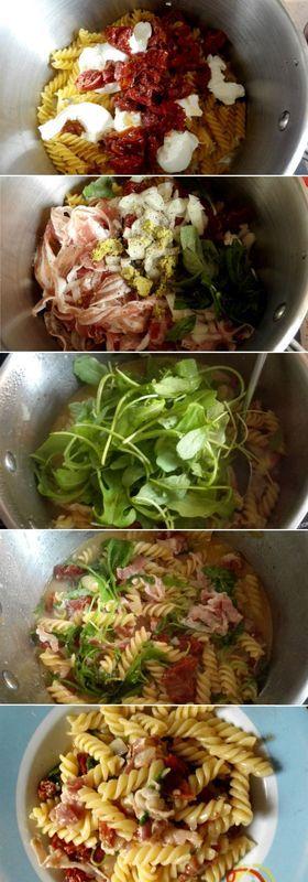 one pot pasta tomates basilic mozzarella