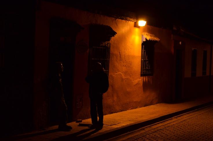 calle barrio la Candelaria, Bogotá Colombia