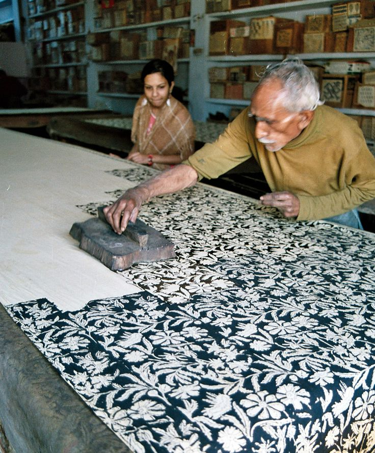 artisan block printing in Bagru village near Jaipur