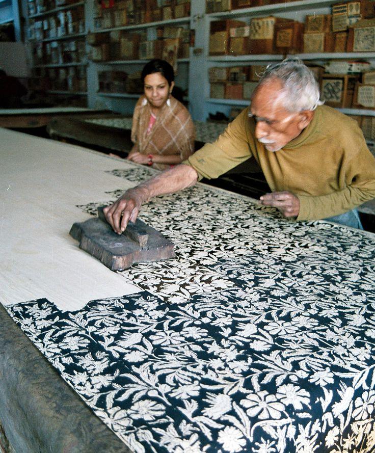 artisan block printing in Bagru village near Jaipur for Mehera Shaw